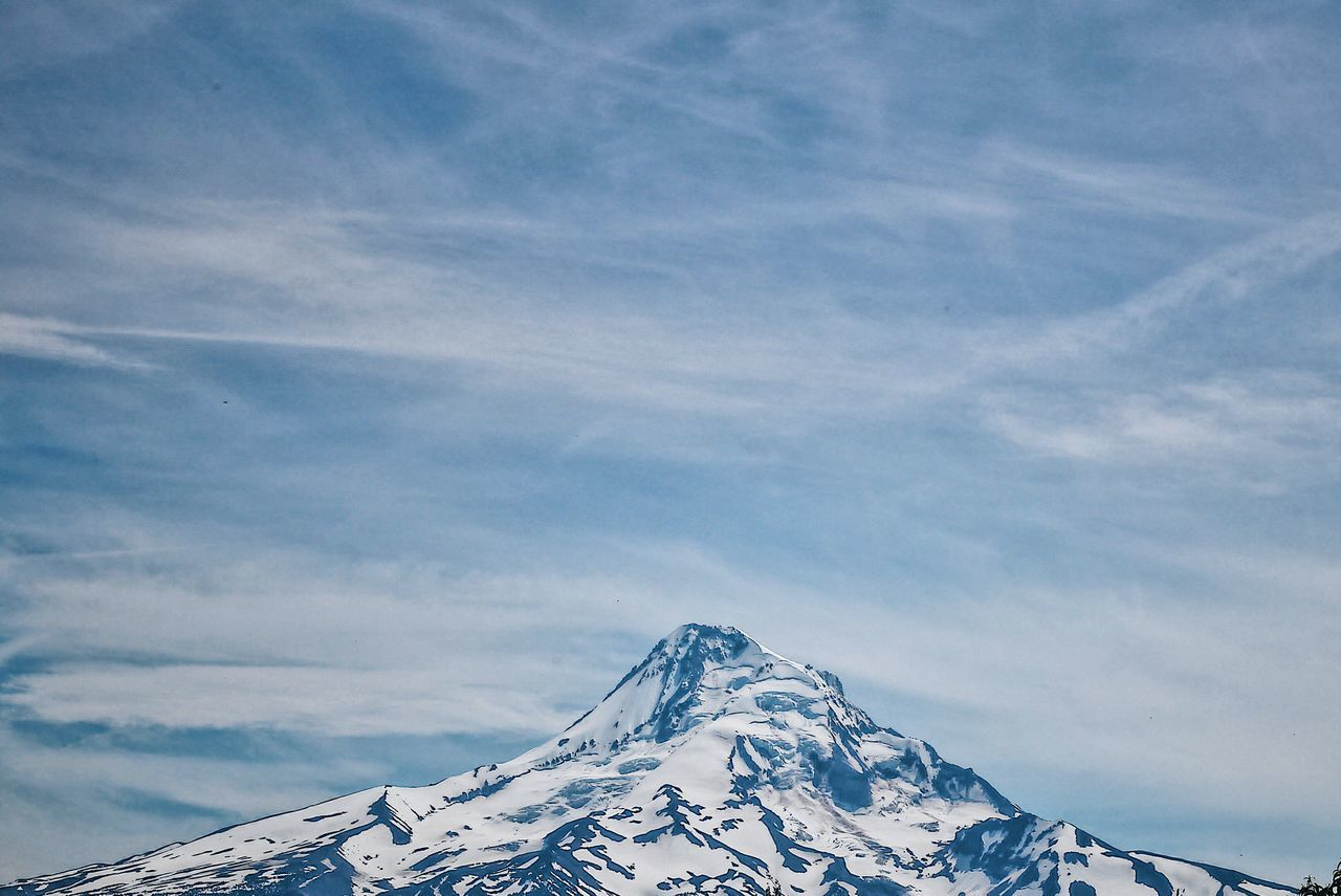 Snow Mountain Nature Winter Sky Cold Temperature Tranquility Day Beauty In Nature Snowcapped Mountain Cloud - Sky No People Scenics Mount Hood