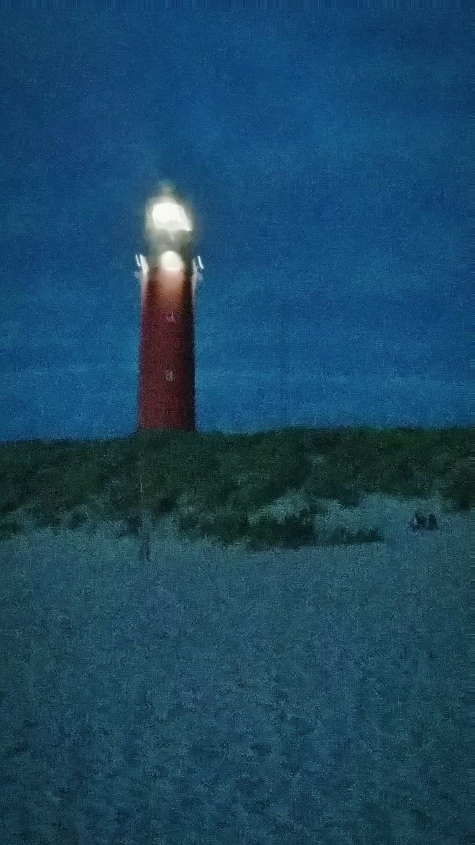 Dunes Beach Lighthouse Sea Vacation Nightphotography Night Texelstrand Texel  Netherlands De Cocksdorp