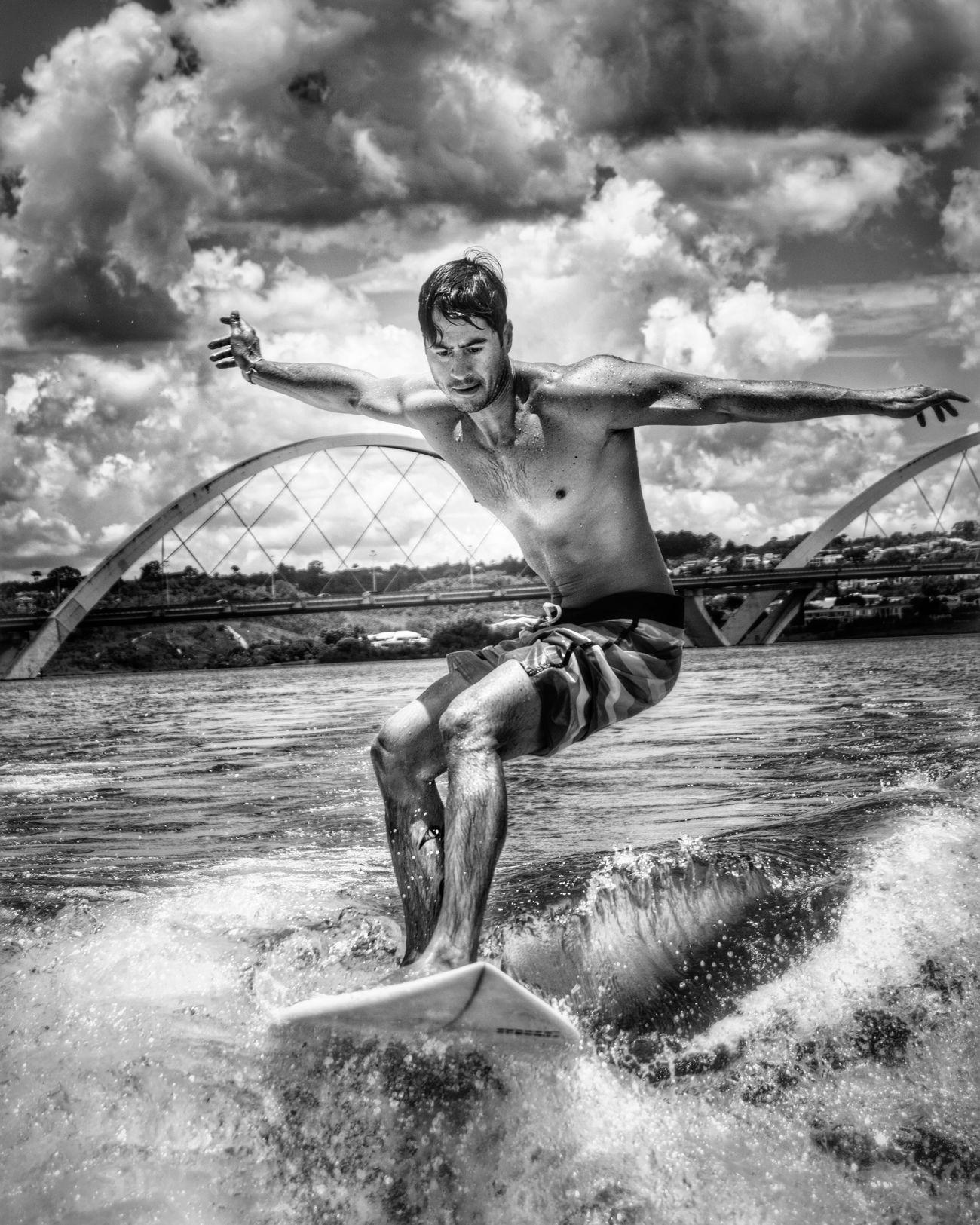 Cloud - Sky Water Cloudscape Outdoors Leisure Activity Sport One Person Sky Brasília Brazil Lago Paranoa Wakesurf Wakesurfing Surf Surfing Wakeboard Wakeboarding Wakeboarding Life  Day Black & White Black And White Black&white Photography Blackandwhite Photography Blackandwhite