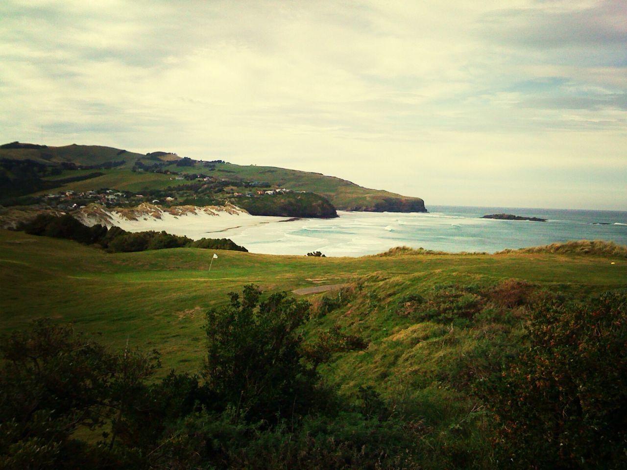 Overcast Sea And Sky Green Ocean Sea