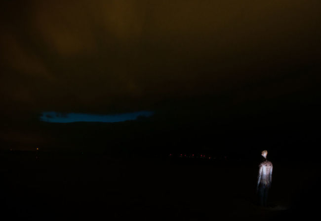Antony Gormley Crosby Beach Nature Night Scenics Statue Tranquil Scene Tranquility