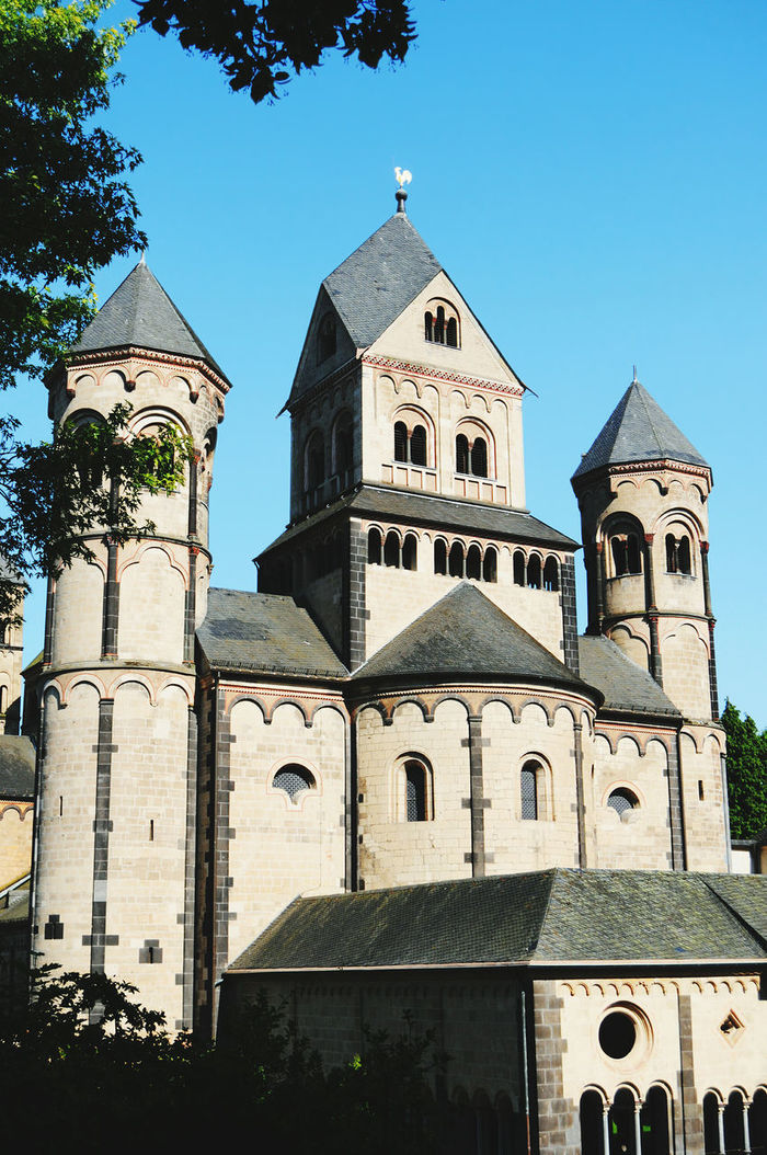 Monastery Maria Laach at Eifel region in Germany. Architecture Cathedral Church Clear Sky Dome Eifel Eifel Germany Façade Germany High Section Laacher See Low Angle View Maria Laach Maria Laach Abbey Monastery Place Of Worship Religion Rhineland-palatinate Spirituality Window