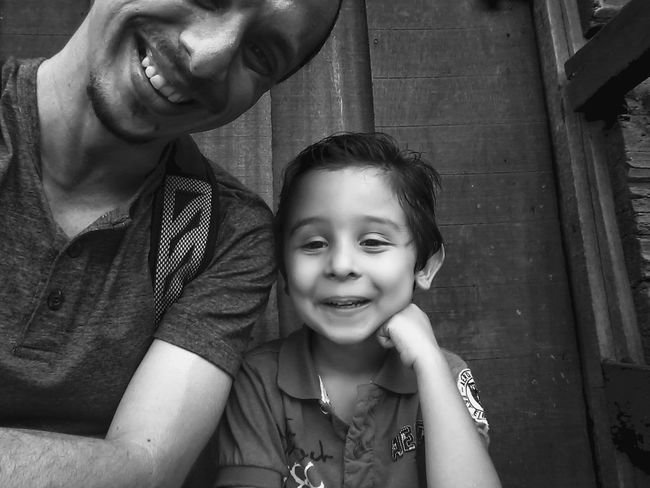 My son and I. Having A Good Time Blackandwhite Photography FamilyTime