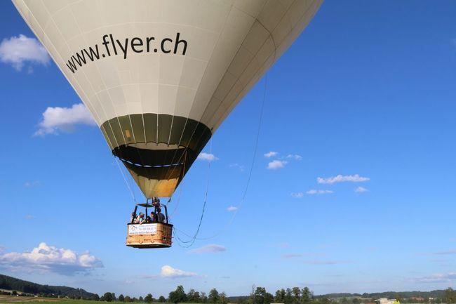 Flyer Balonfahrt Balon Baloons Sky_collection Blue Sky Luftfahrt