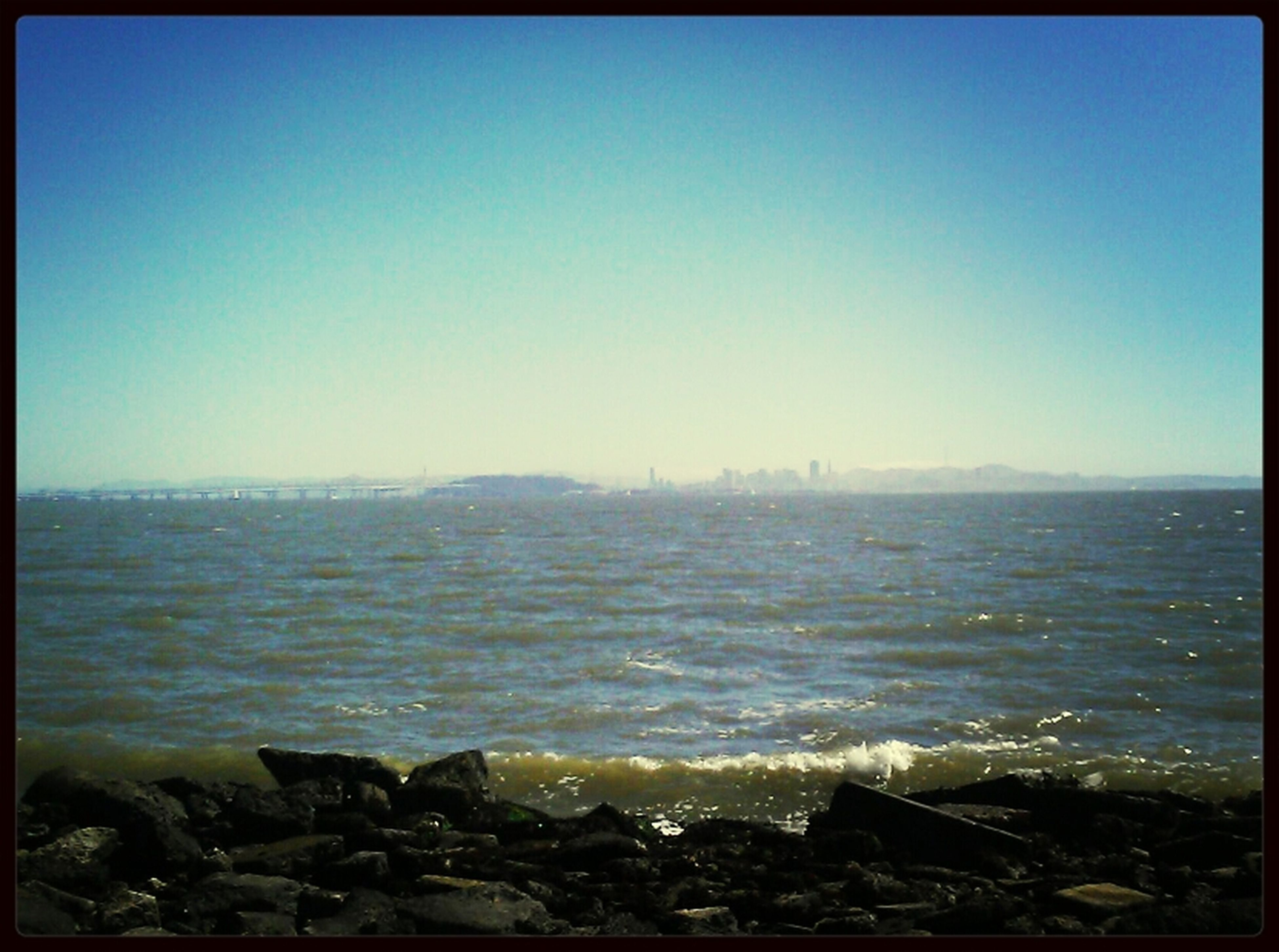 enjoying the bay on a gorgeous day. Walking Around Skyline The Bay Oceans