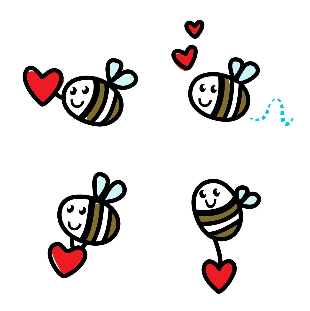 "Designers ""lady vintage Bees"" : Art for valentine Artforsale ArtShop Characterdesign Cute Dreaming Hearts LINE Lineart Little Littlebees Love No People Shop Symbol Symbol, Shape"