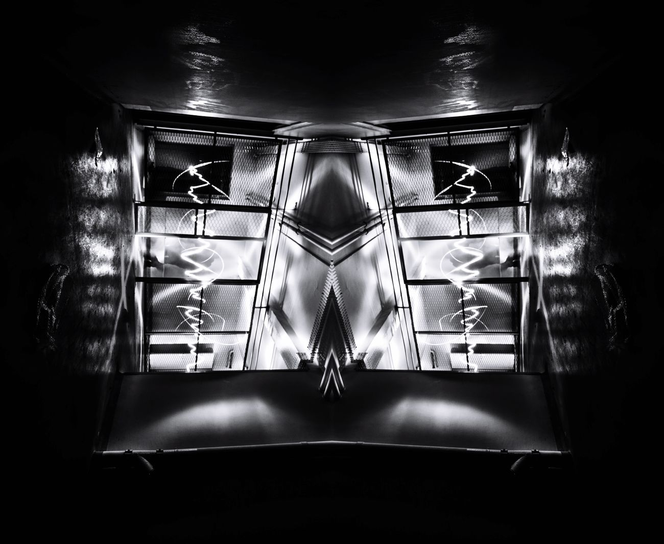 The prisoner 2016 Light And Shadow Lightpainting Symmetry Blackandwhite Blackandwhite Photography Symmetrical Urbex Urbexexplorer Exploring Black White Light Dark Darkness And Light Prison Jail Nikon Nikonphotography Wide Shot Sigma10-20 Sigma Photographylovers Photography Pics D7100