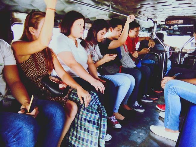 Jeepney Commuter Manila Philippines Road Public Transportation Public Transport Third World Country