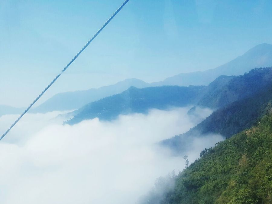 Tree Nature Beauty In Nature Mountain Scenics Sky Landscape Cloud - Sky Mountain Range Outdoors Fog Day No People Clouds And Sky Himalaya Range Mountains Beauty In Nature Nepal Himalayanwonders Nature Beautiful View Travel Destinations