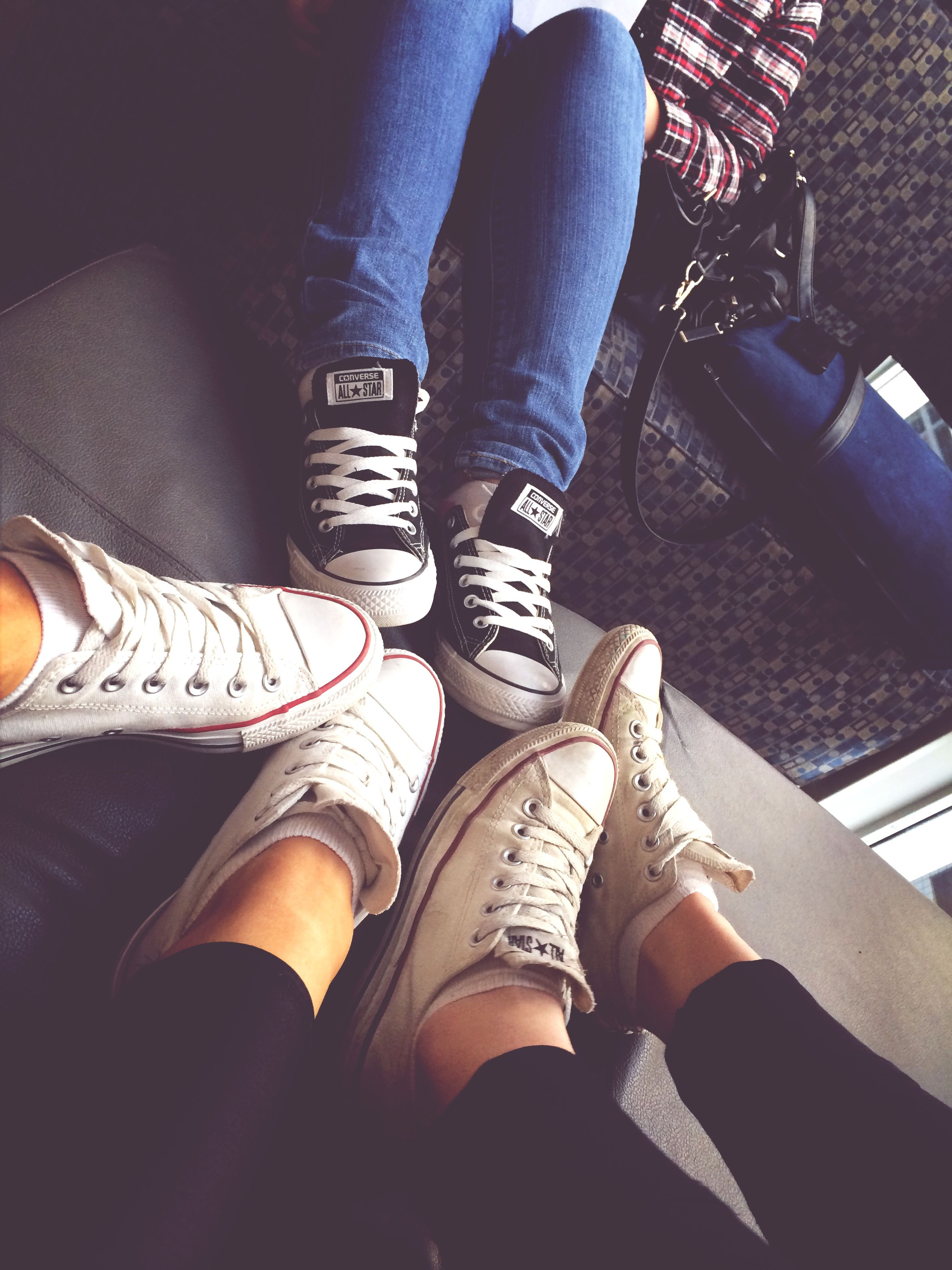 low section, person, shoe, lifestyles, men, indoors, standing, leisure activity, togetherness, human foot, jeans, personal perspective, footwear, high angle view, casual clothing