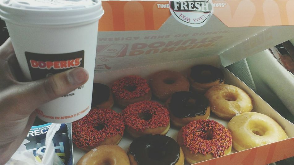 coffee for me / donuts for the nieces and nephew Dunkindonuts Coffee Donuts Foodporn