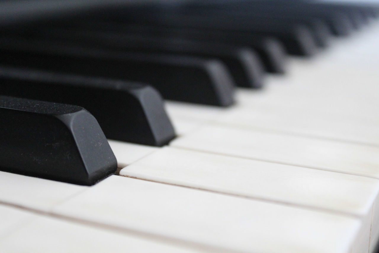 Beautiful stock photos of piano, Arts Culture And Entertainment, Backgrounds, Black Color, Close-up