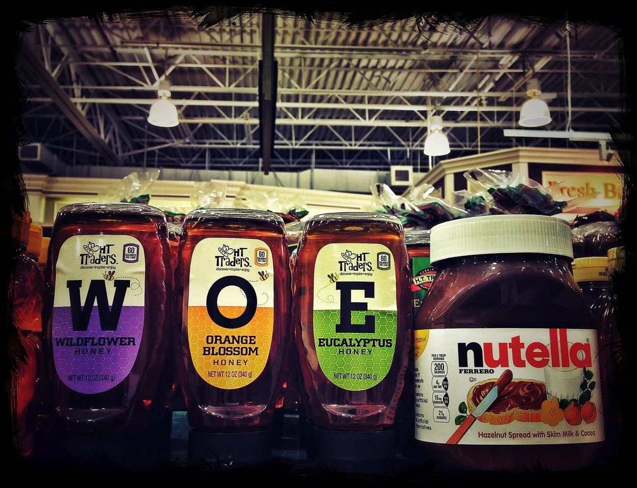 Alphabetography - Woe to the dieter who walks down the Nutella aisle. Under Pressure Diet Yummy