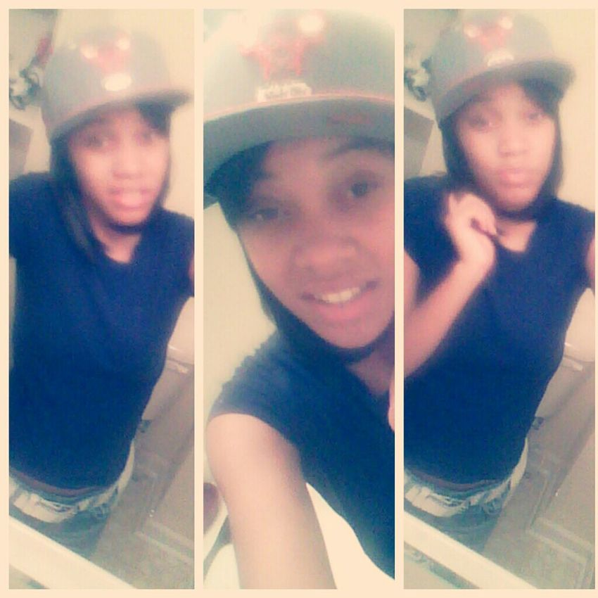 yesterday , with his hat <3