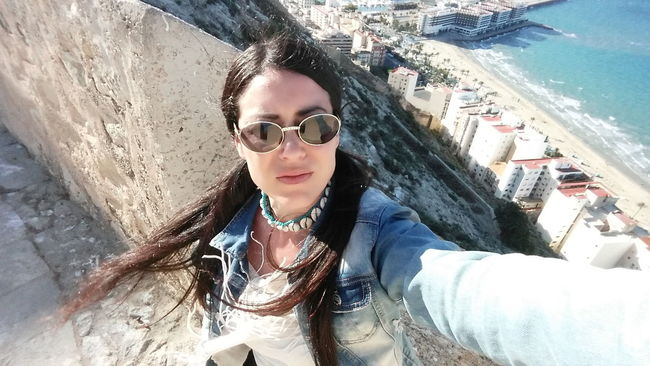Self Portrait Selfportrait Self Potrait Erikabenmar Sunglasses Sunglass  Perspective Perspectives Personal Perspective Castillo De Santa Bárbara Vertigo Vertical Panorama Panoramic Photography Height Views Historical Monuments Castle View  Interesting Places Interesting Perspective  Good View Selfietime Sea View Girl Selfie Seascape Alicante, Spain