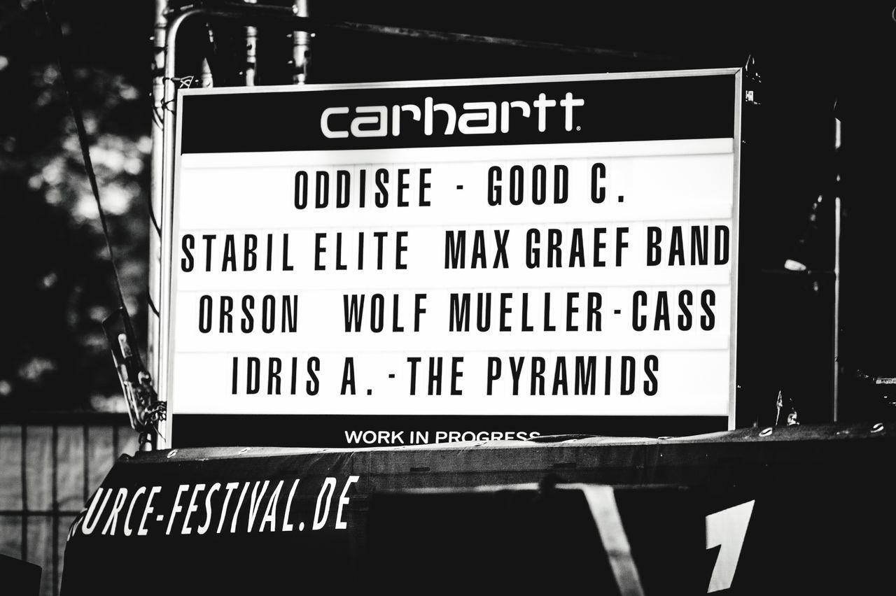 Carharrt Festival Season Open Source Festival  Duesseldorf TakeoverMusic