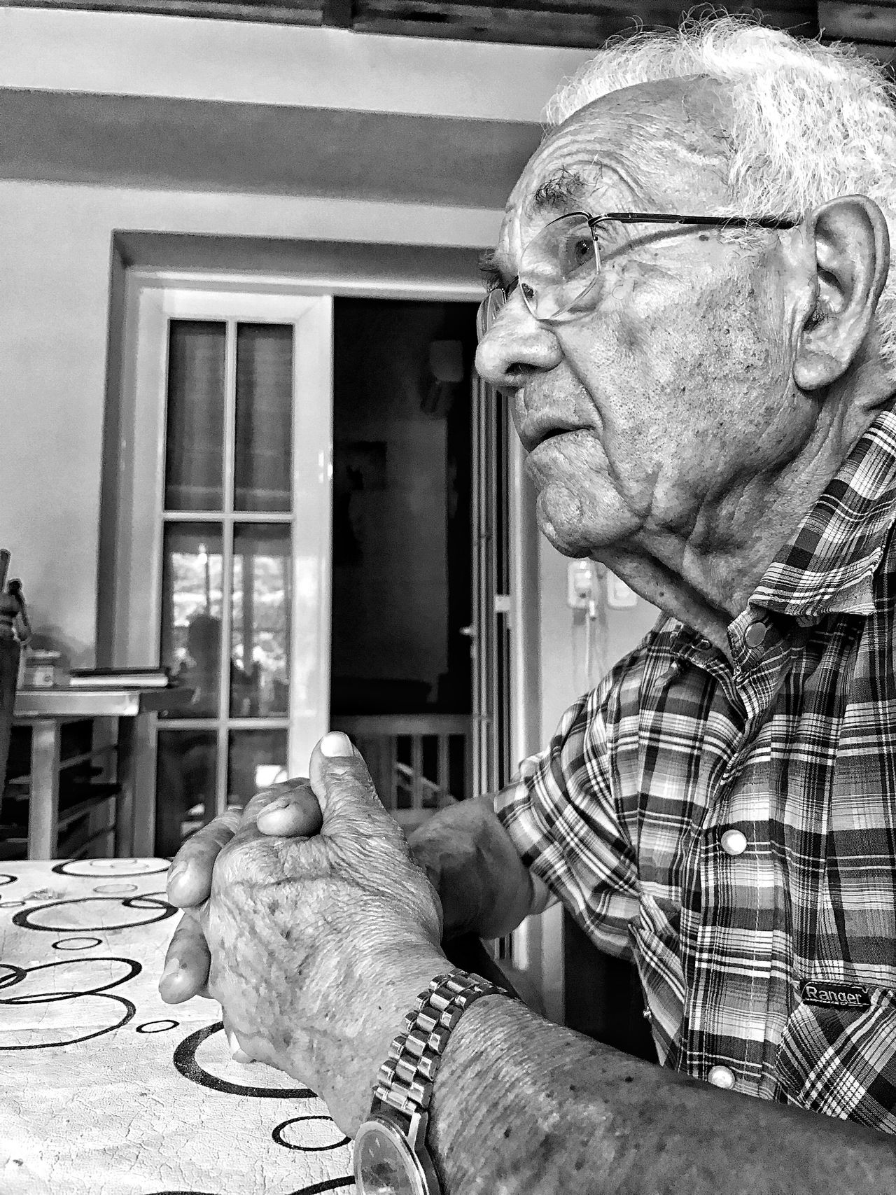 Portrait. Senior Adult Human Hand Real People Wrinkled Senior Men Holding Sitting Skill  Close-up One Person Indoors  Human Body Part Aged Day
