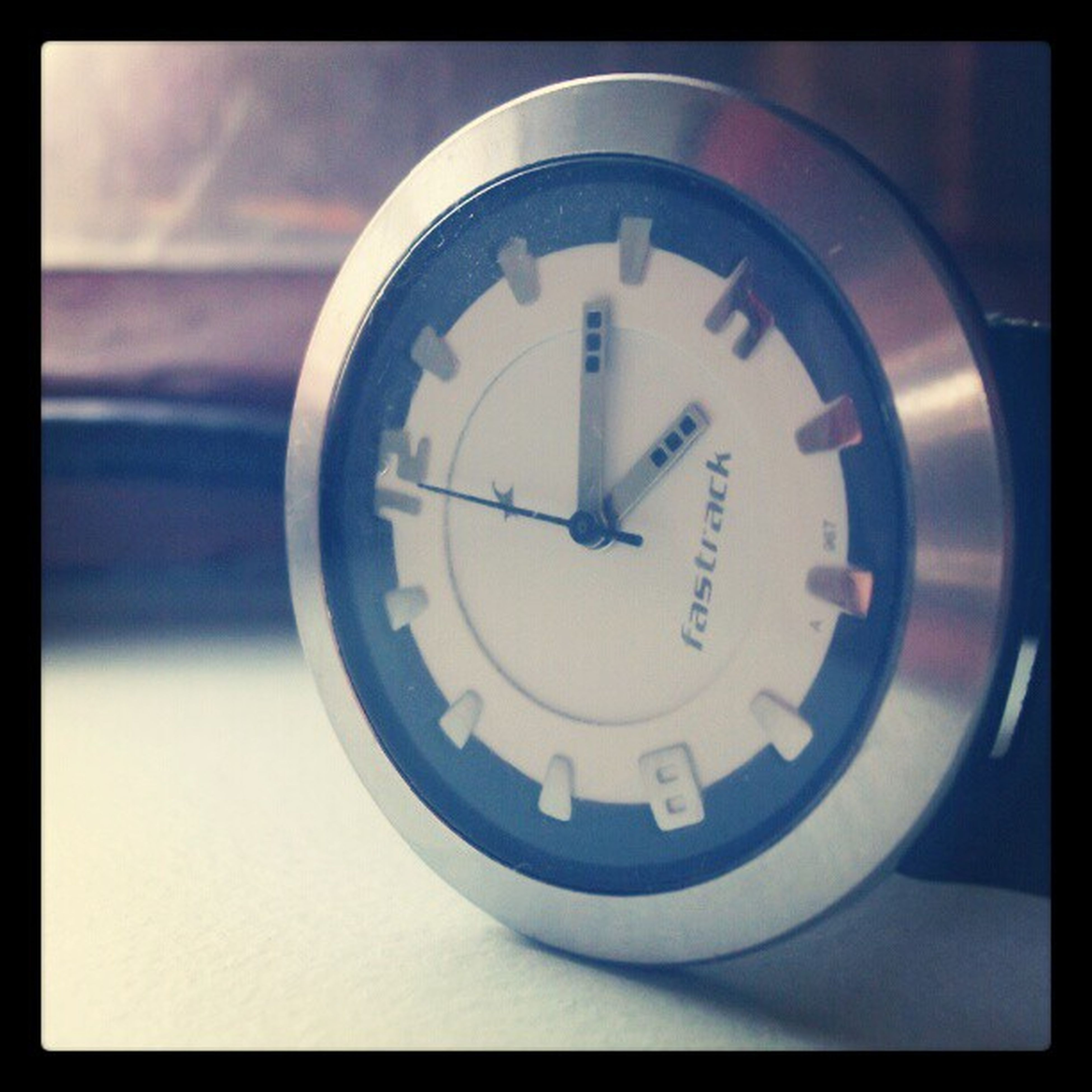 transfer print, auto post production filter, circle, indoors, clock, time, close-up, communication, number, geometric shape, text, no people, accuracy, clock face, single object, shape, day, technology, guidance, round