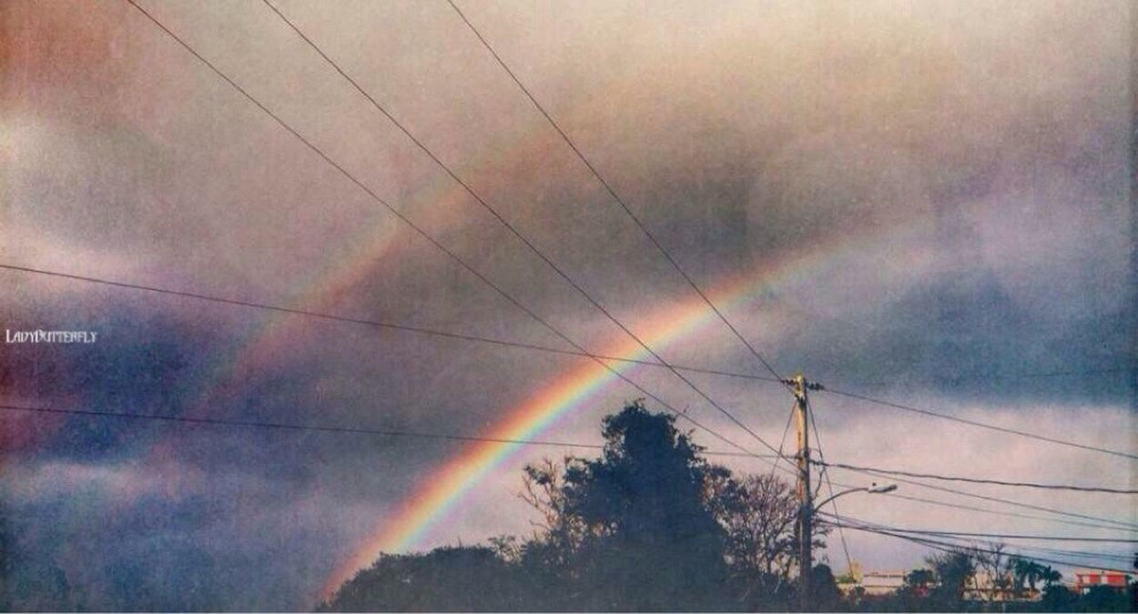 Somewhere over the rainbow✨🌈💕 Rainbow Double Rainbow Dreaming Walking Around Lookingup Skyporn Sky Taking Photos Hello World From My Point Of View Colorful Colors Of Nature IPhoneography Tadaa Community Check This Out Popular Photos Eye4photography  Power Lines Dream Dreamcatcher Living The Dream Getting Creative EyeEm Best Edits Landscape Living A Dream😌💭