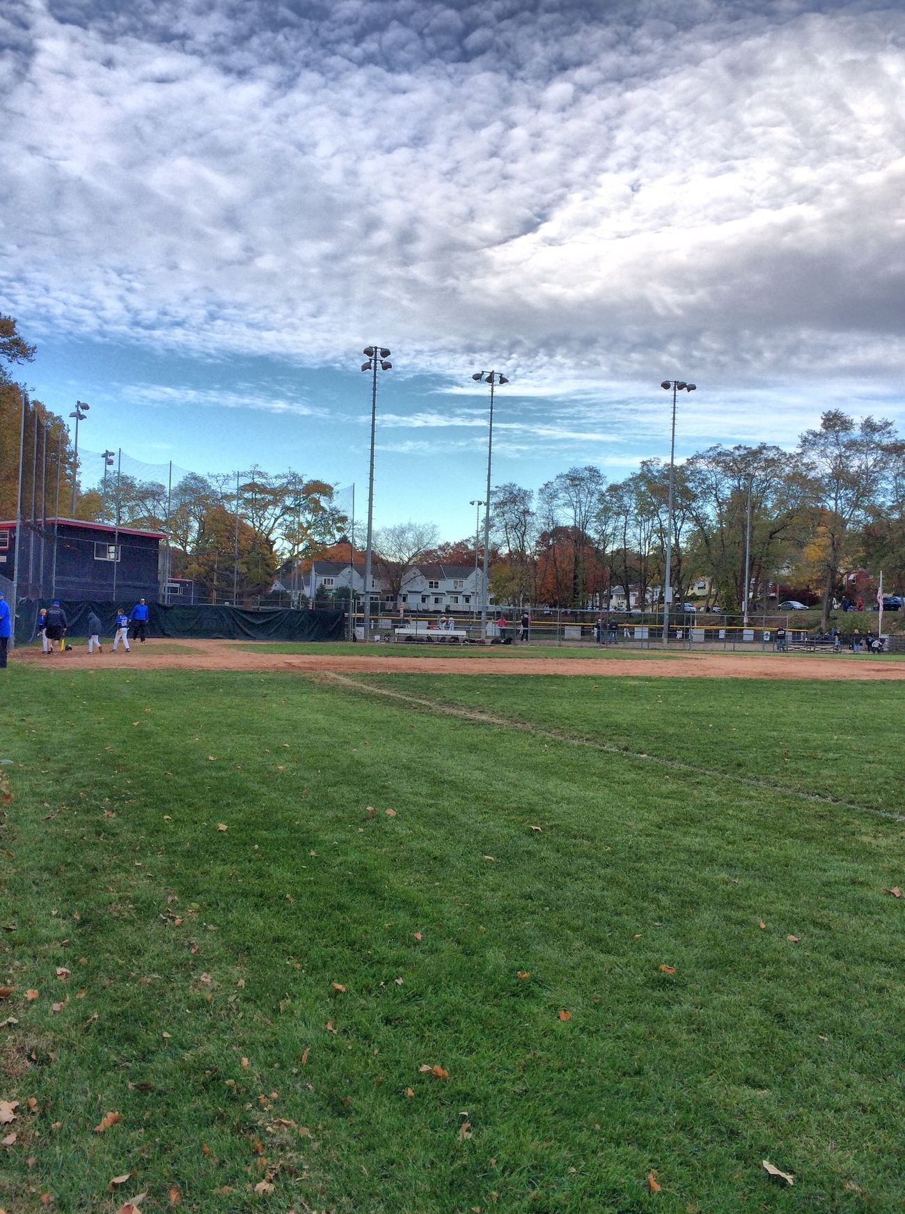 ✨⚾️😌Season's End😊⚾️✨ The final frame recorded...a brisk late October breeze quietly carrying away the memories of The Game. Getting Inspired Tadaa Community Baseball October Autumn Clouds And Sky