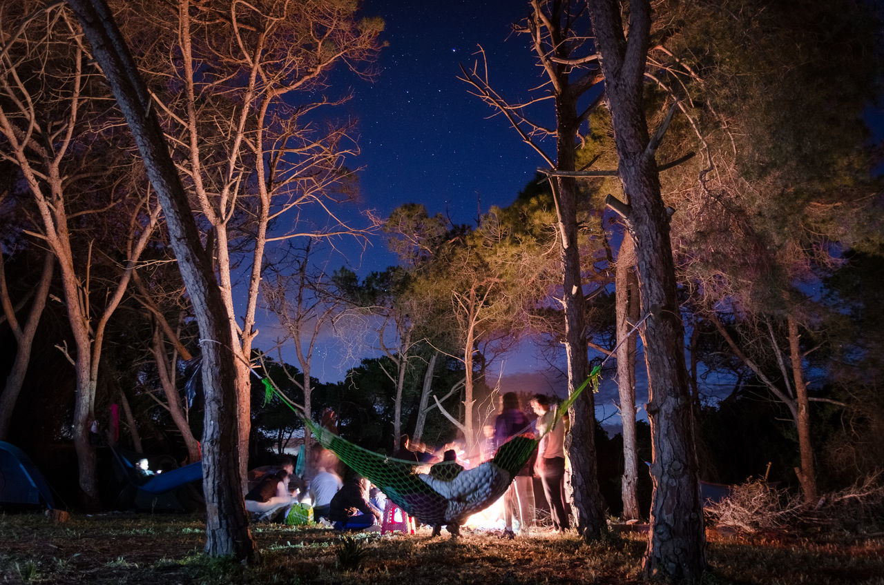Together we are Free Calm Camping Enjoying Life Fire Forest Friends Night Stars EyeEmNewHere.