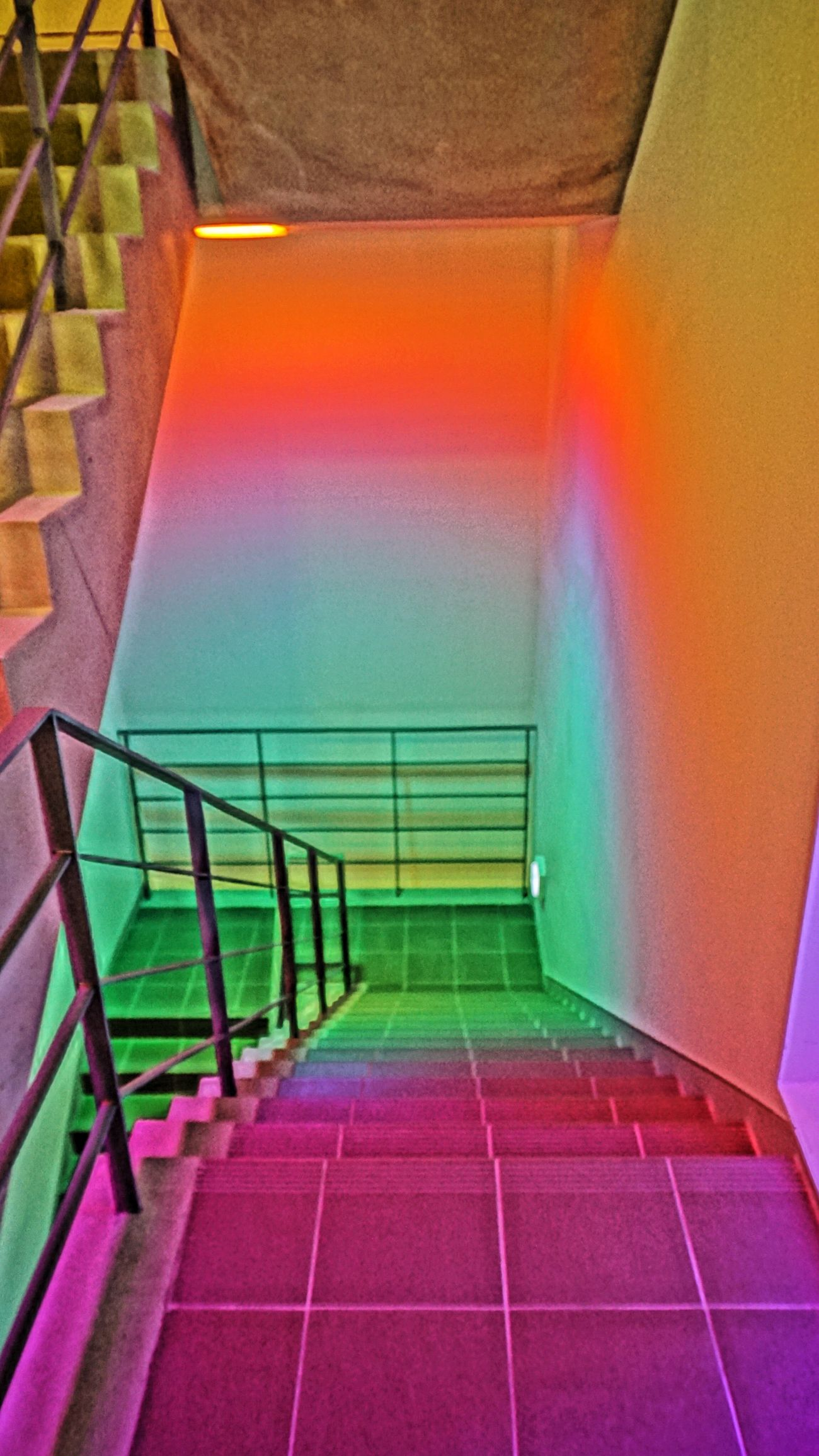 Colors Color Portrait Colorful Color JCC Art Center Stairs Light Light Colors Color Explosion Colorsplash Architecture Best Of Stairways Ando Tadao