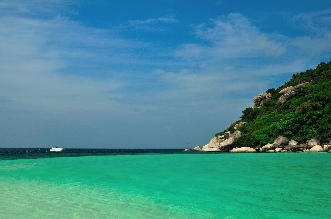 Beauty In Nature Blue Day Horizon Over Water Koh Tao Koh Tao, Thailand Koh Tao,Tao Island,Southern Thailand Nang Yuan Island Nature Outdoors Scenics Sea Sky Tranquil Scene Tranquility Water