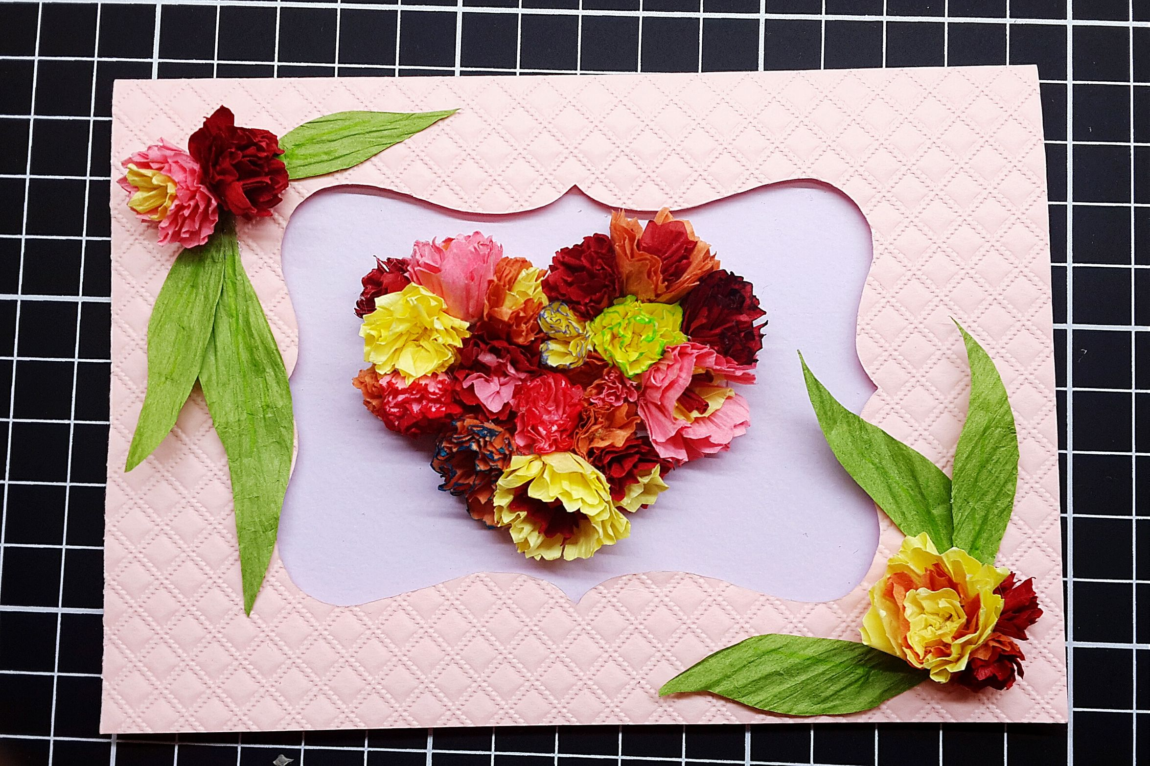 DIY Card Happymomsday Flowersflo 0510 Happy Mother's Day! Mommy Loveyou Carnations Heart
