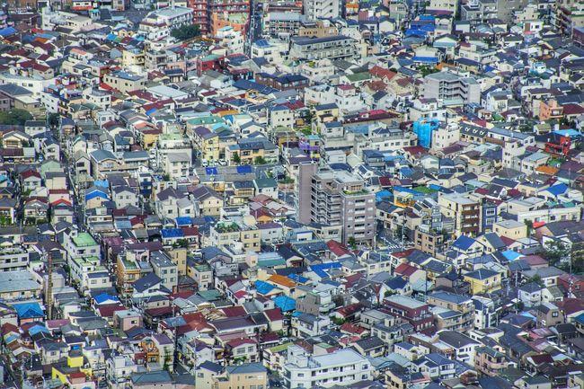 House Aerial View Tokyoskytree Skytree City Tokyo Japan Nikon