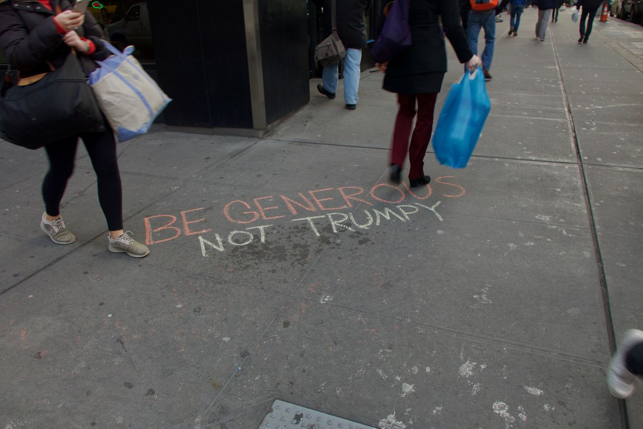 World's always getting reacher with new words Generous Human Leg NYC Street Photography Outdoors People Plastic Bag Street Text Trumpy