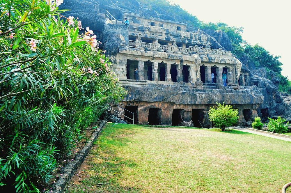 Caves Undavalli Vijayawada Green Heritage Oldstructure  Tosee Dont Miss Lemon Lime By Motorola