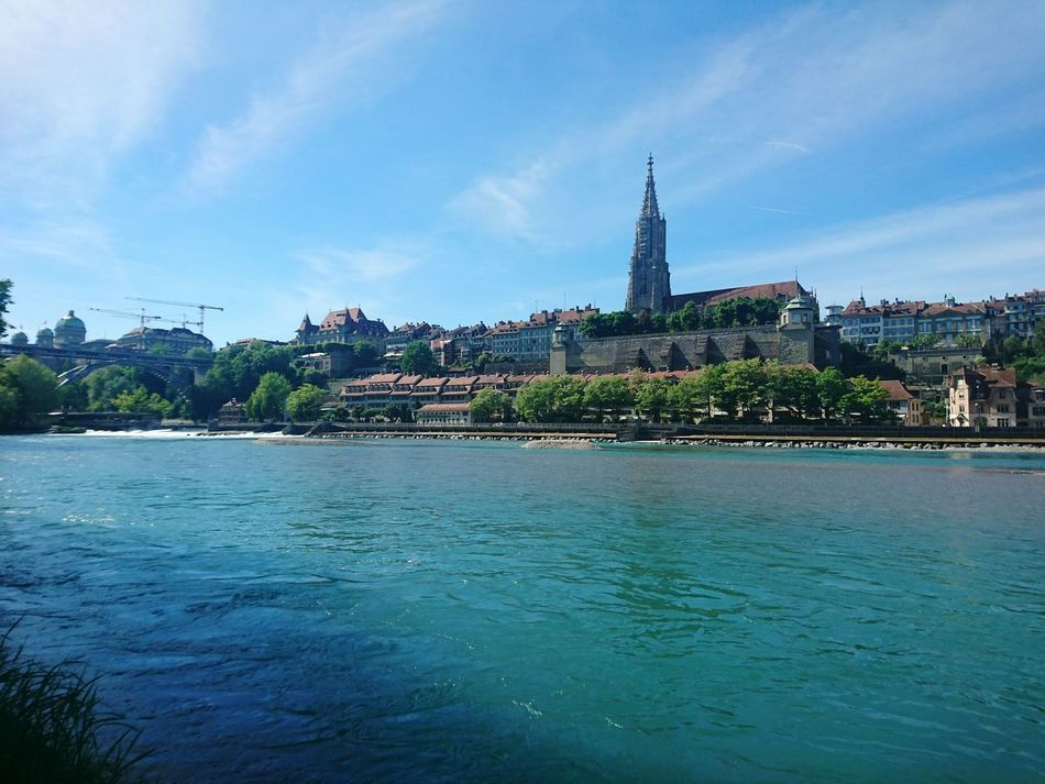 Travel Destinations Architecture Water City Outdoors Urban Skyline Day Nature Bern, Switzerland Capitolcity HJB