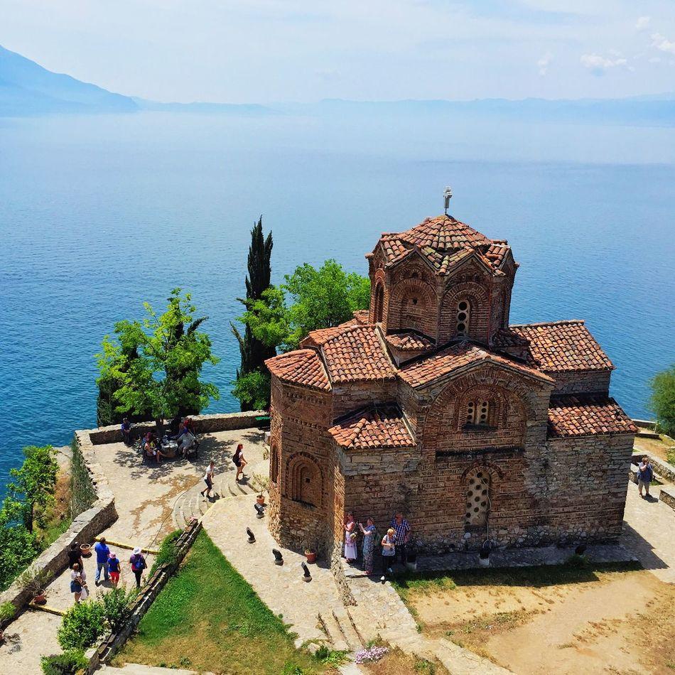 Kaneo Ohrid Macedonia Orthodox Orthodox Church Sea Lake Balkans Buildings Old Buildings