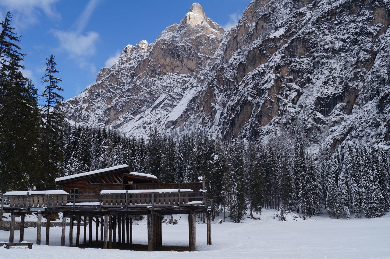Snow Winter Frozen Beauty In Nature Nature Outdoors Sky Scenics Mountain Pragserwildsee Prags Italy
