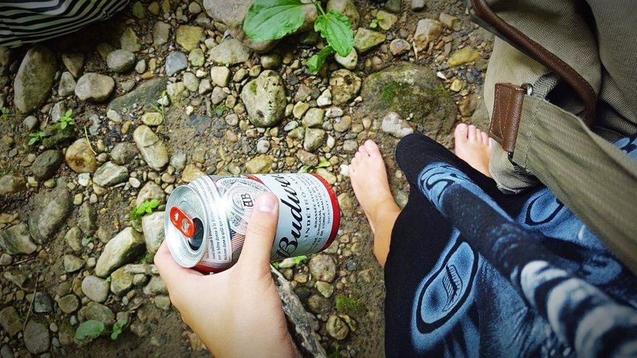 Dramatic Angles Point Of View Beer Time Budweiser Outdoors Solitude Beauty In Nature Calm Scenics Tranquility