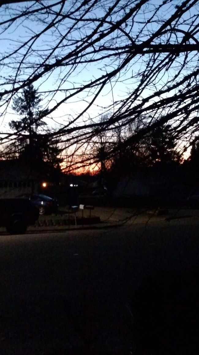 Night Photography Sunset Crisp Winter Night