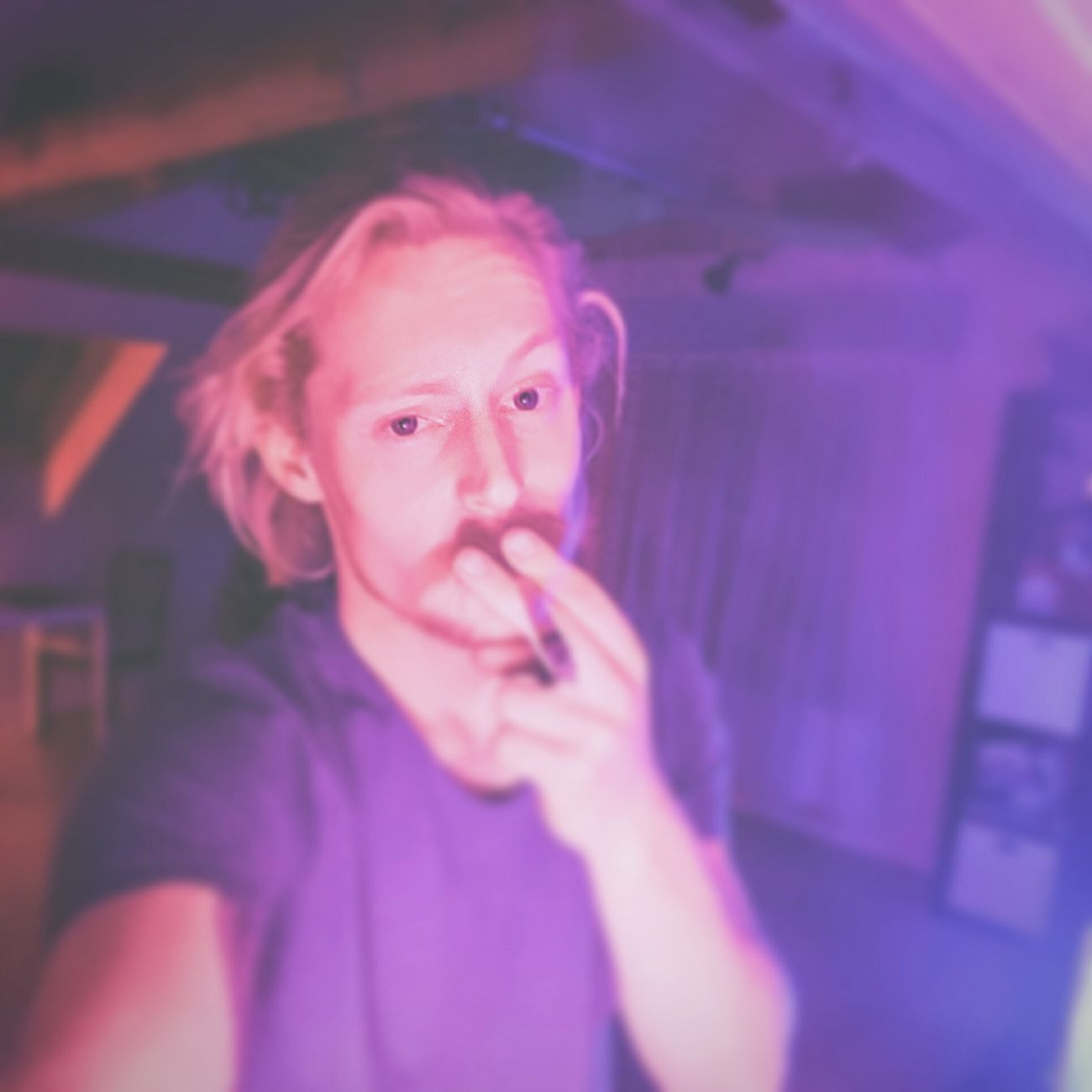 Hello World That's Me Enjoying Marijuana Have A Good Night!!! Great Lighting Conditions PhilipsHue