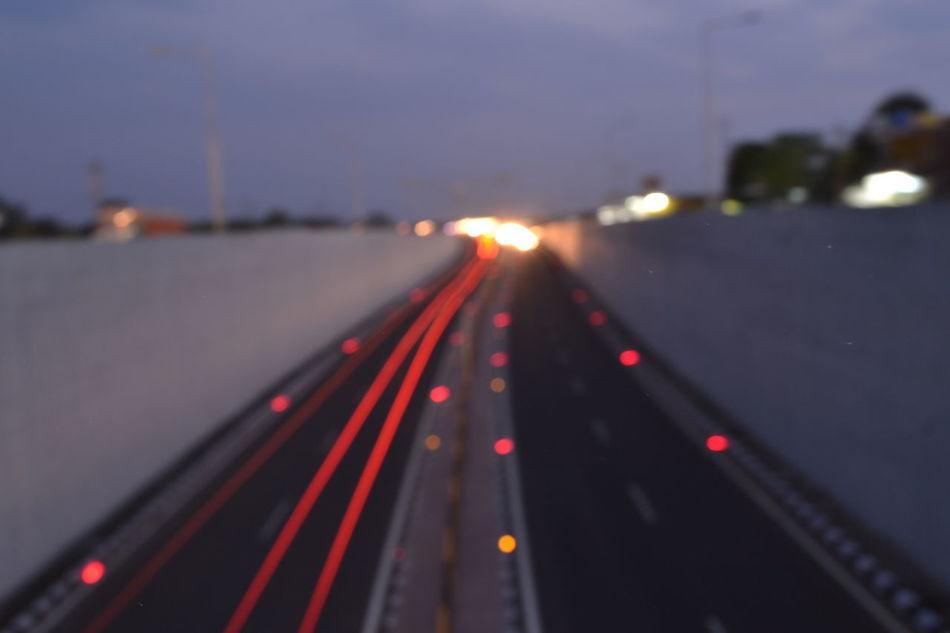 Nikonphotography Roadtrip Nightphotography Speed Illuminated EyeEmNewHere Travel Photography Indianphotographer Lights Cars Vehicle Light Underpasssubway City Chhindwara India Indianroads
