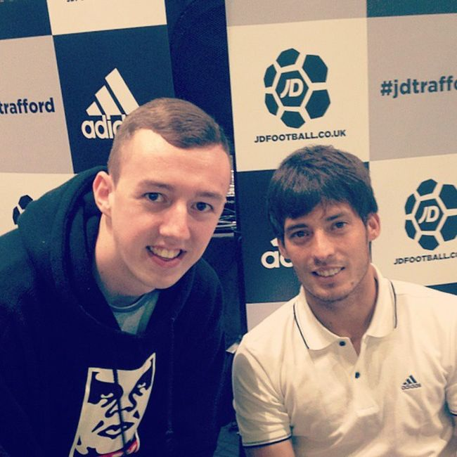 Just met the legend that is @21LVA Mcfc Davidsilva Footballer Soccer football sports