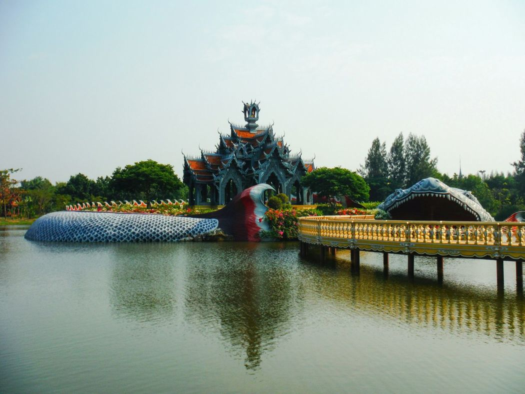 Something In The Water Travel Thailand Travel Destinations Giant Fish Mythical Mythical Creature Mini Siam Temple Water Outdoors