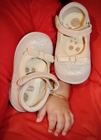 Baby Babygirl Child Littleshoes Babyshoes  Red Shoe Indoors  Close-up People One Person