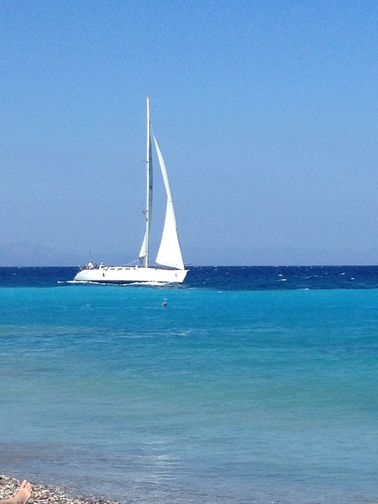 Sail away.