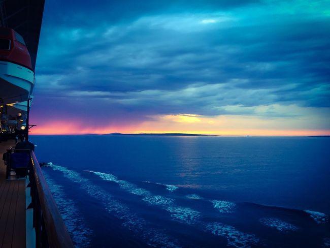 At sea... Sunset Croatia ♡ Sea Cruiseliner Shiplife
