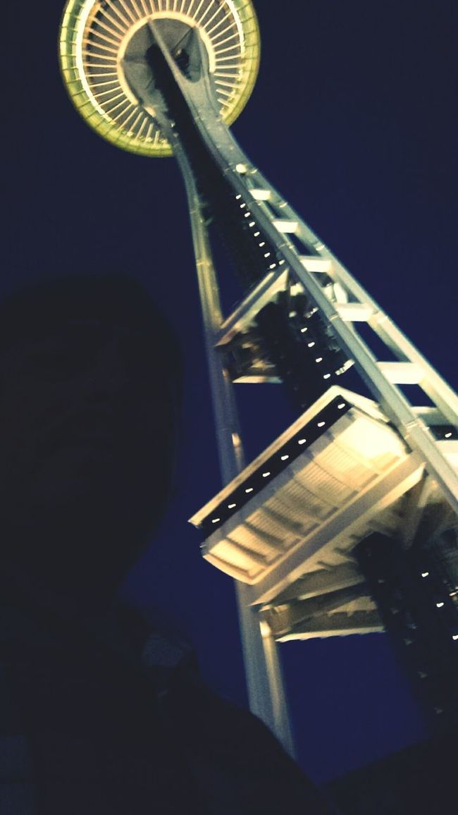 Space needle at night. Walking Around That's Me