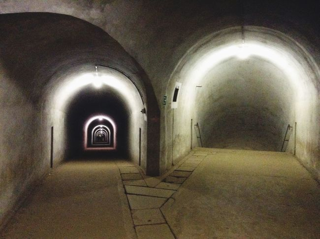 |Soft 4|Hallway| Hallway Light And Shadow Taking Photos Fort Eben Emael by Eben Emael , Belgium