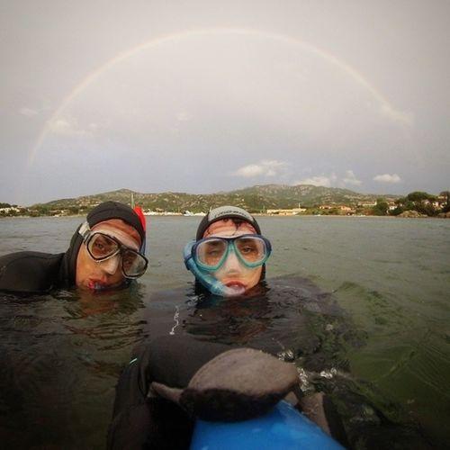 Fishing over the rainbow Fishing Rainbow @gopro Friend Summer Waves Rain Wind Pastacoigranchi Top Pettinati Instagram Bestphotooftheday Picoftheday Aureola