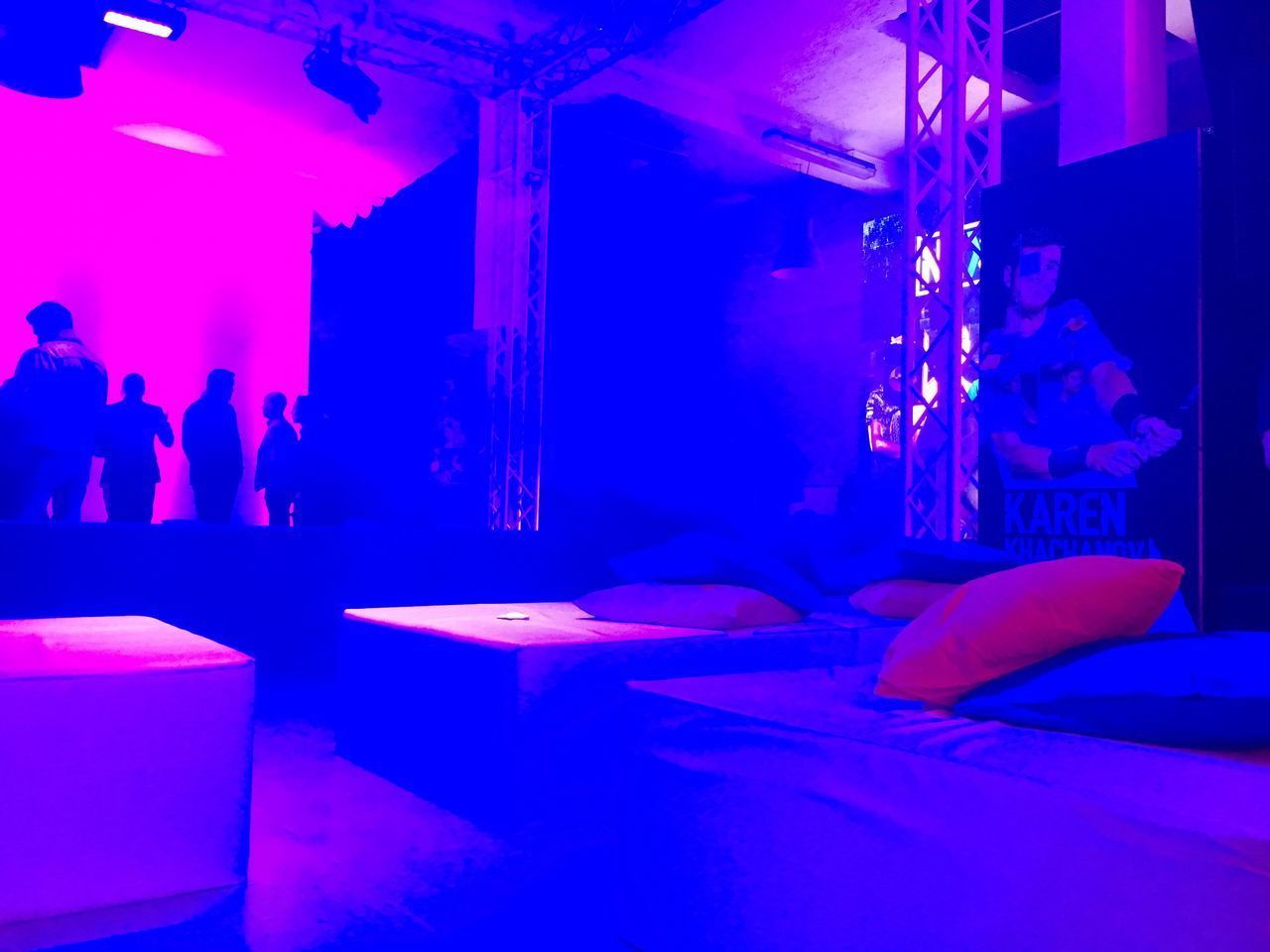Blue Indoors  Party - Social Event Nightclub Large Group Of People Real People Illuminated Sitting Men Day Atp Tour
