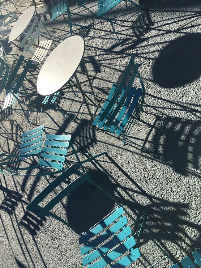 Blue City Day Low Angle View No People Outdoors Sky Tall - High Urban Skyline Chairs Tables