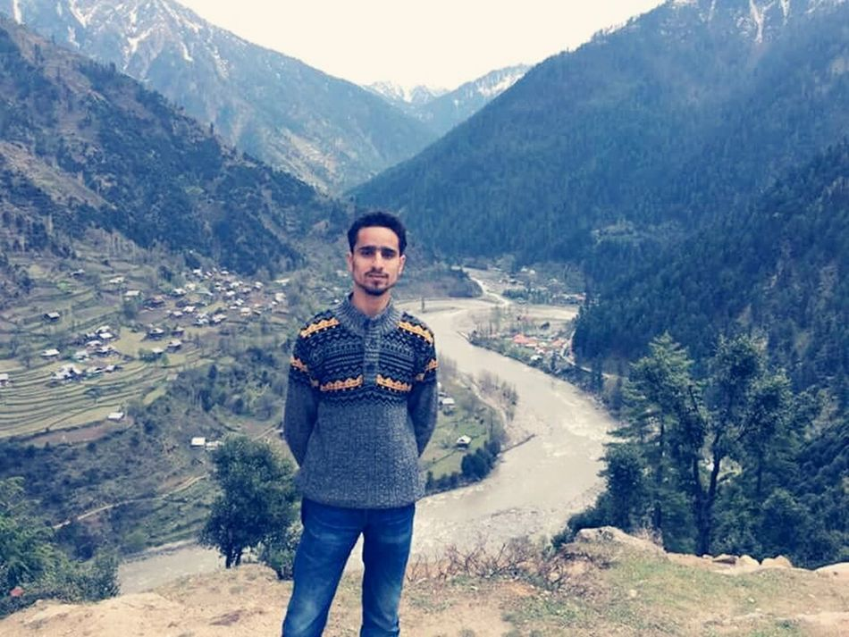 From My Right Side Its India And From Left thats pakistan. river is border between two countries.. And i am in pakistan