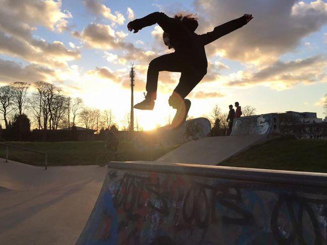 Tre-Flip of manny pad Skateboarding Skate Skateuk Skatepark Skatelife